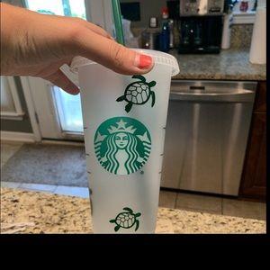 Save the turtles Starbucks REUSABLE cup